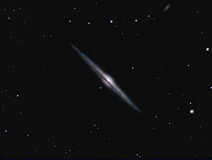 NGC4565; mag 10.1; size 14.5x2.3'; exp 23-min(60s subs); 60Da @ISO3200; C9.25 @f/5.1; guided - 80mm; 4-27-14; Atsion